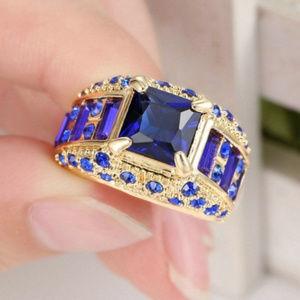 10K Yellow Gold Filled Engagement Wedding Ring